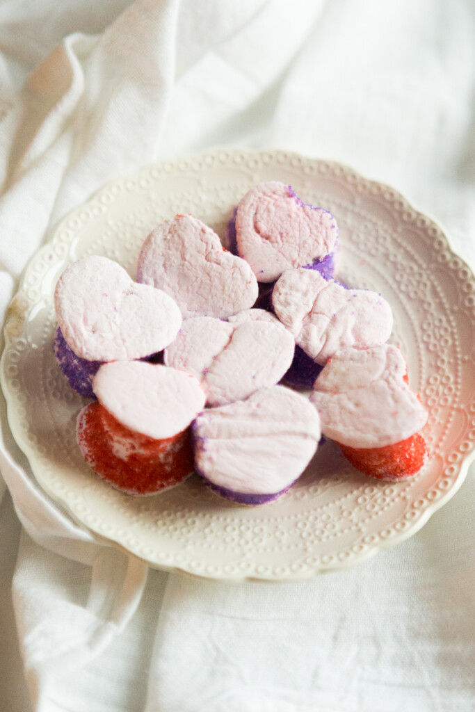 Heart-Shaped Champagne Marshmallows