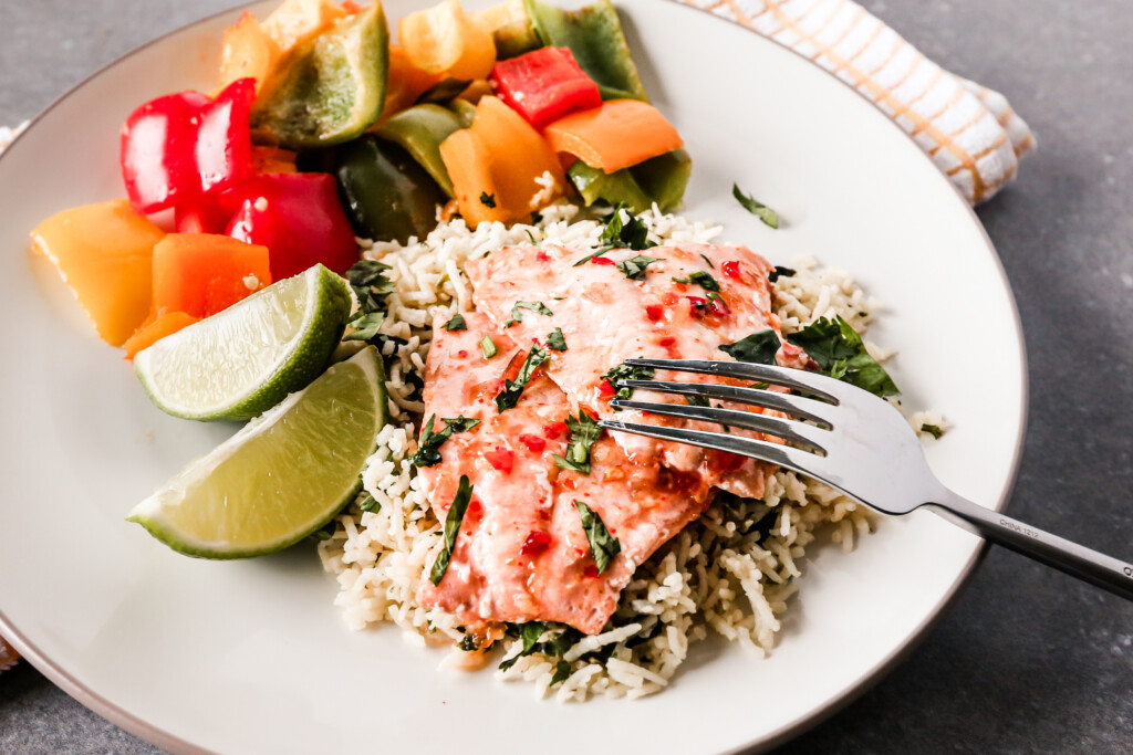 Chili Lime Salmon with Cilantro-Lime Rice