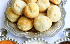 Build-your-own biscuit bar with gravies and jams