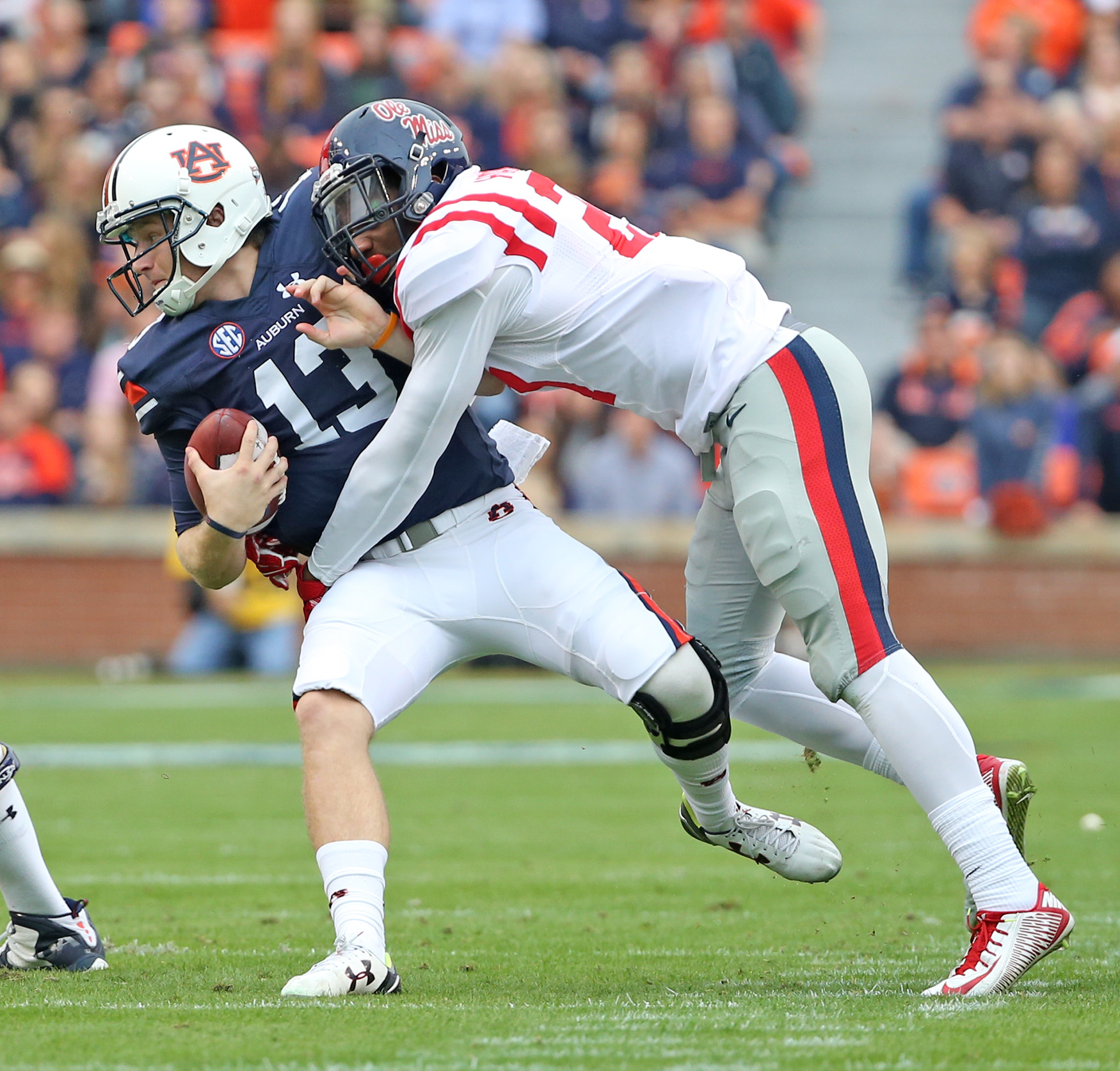 Ole Miss Football vs Auburn on October 31st, 2015 in Auburn, AL. Photo by Joshua McCoy/Ole Miss Athletics