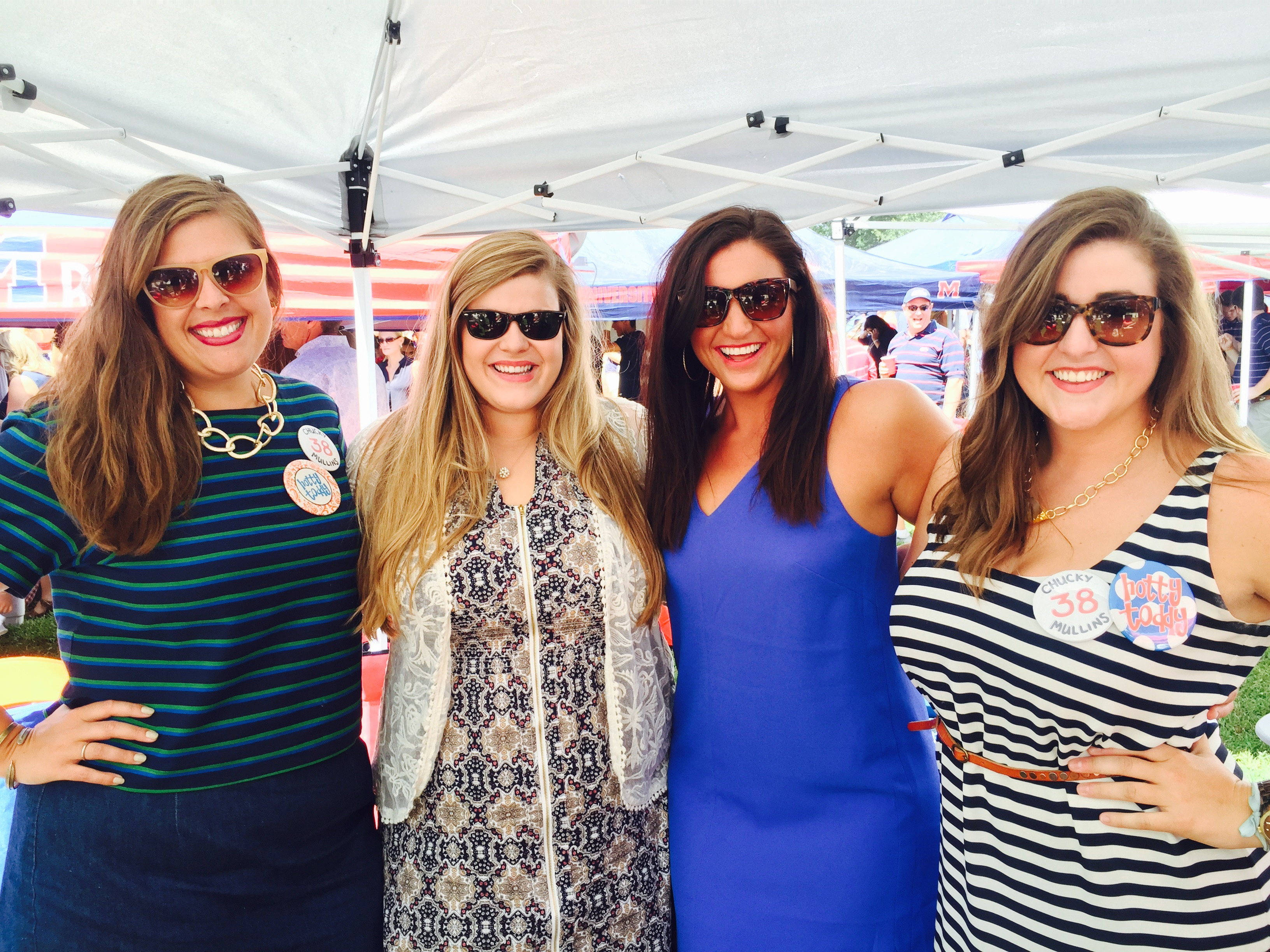 Editor Ellie Turner (far left) with her friends at The Grove.