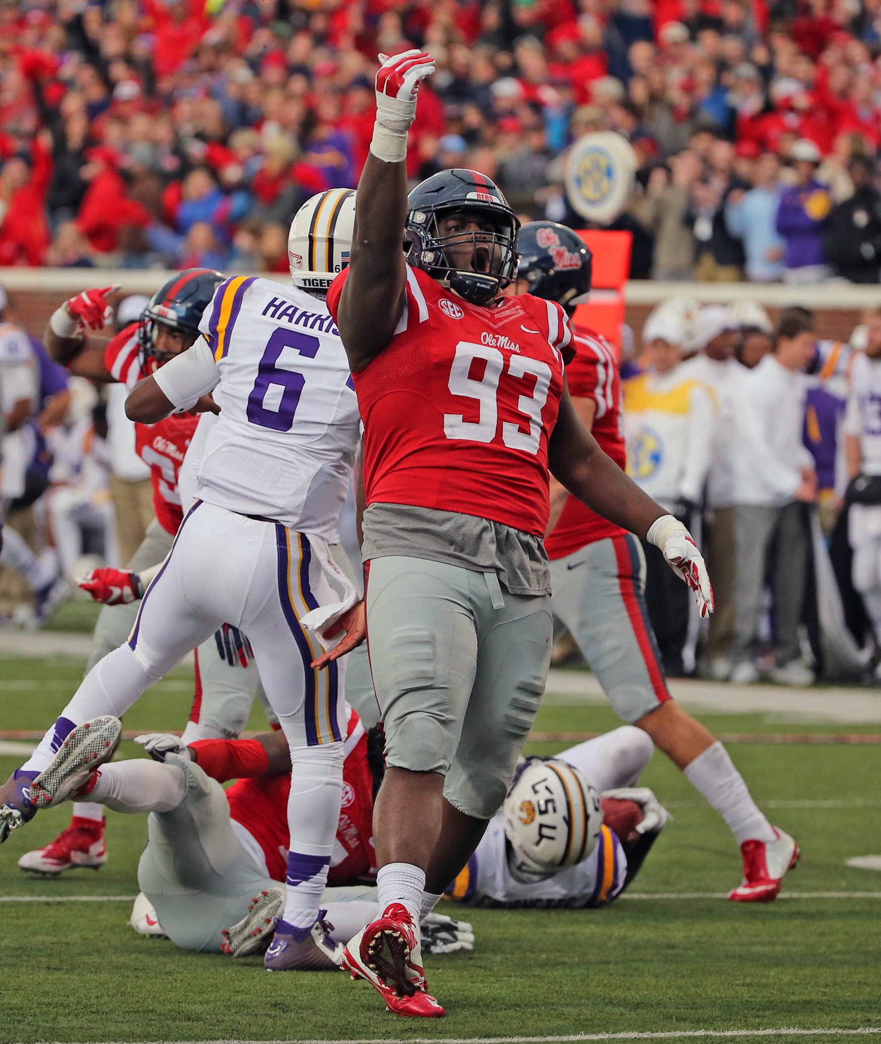 Ole Miss Football vs LSU on November 21st, 2015 in Oxford, MS. Photo by Joshua McCoy/Ole Miss Athletics