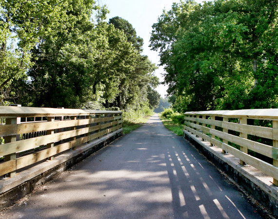Lauren Wood   Daily Journal Bridges, tractor crossings, road crossings and whistlestop rest areas are found along the Tanglefoot Trail.