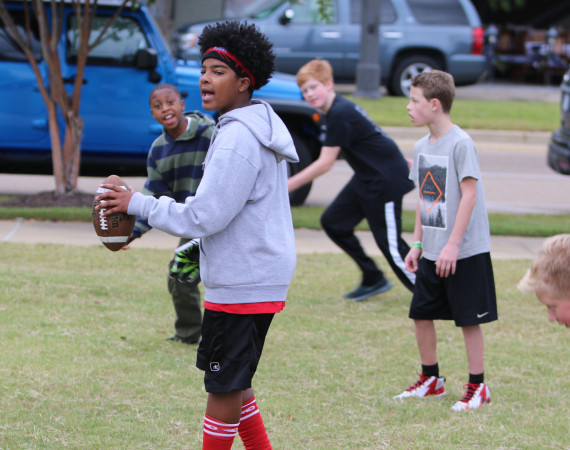 Libby Ezell   BUY at PHOTOS.DJOURNAL.COM Kids played their own game of football at Saturday's Pigskin in the park