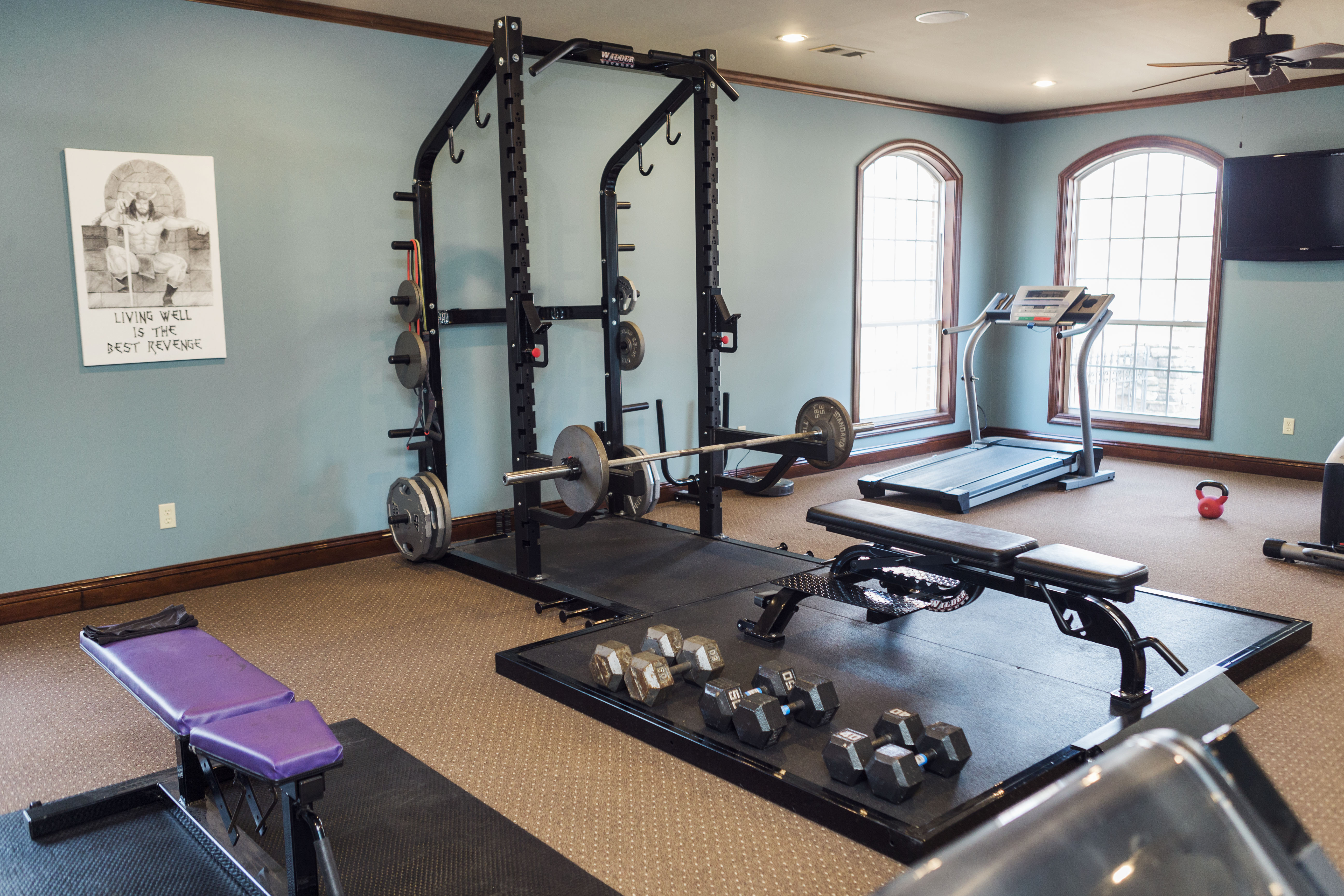 Home how to russell home gym theater mud and magnolias