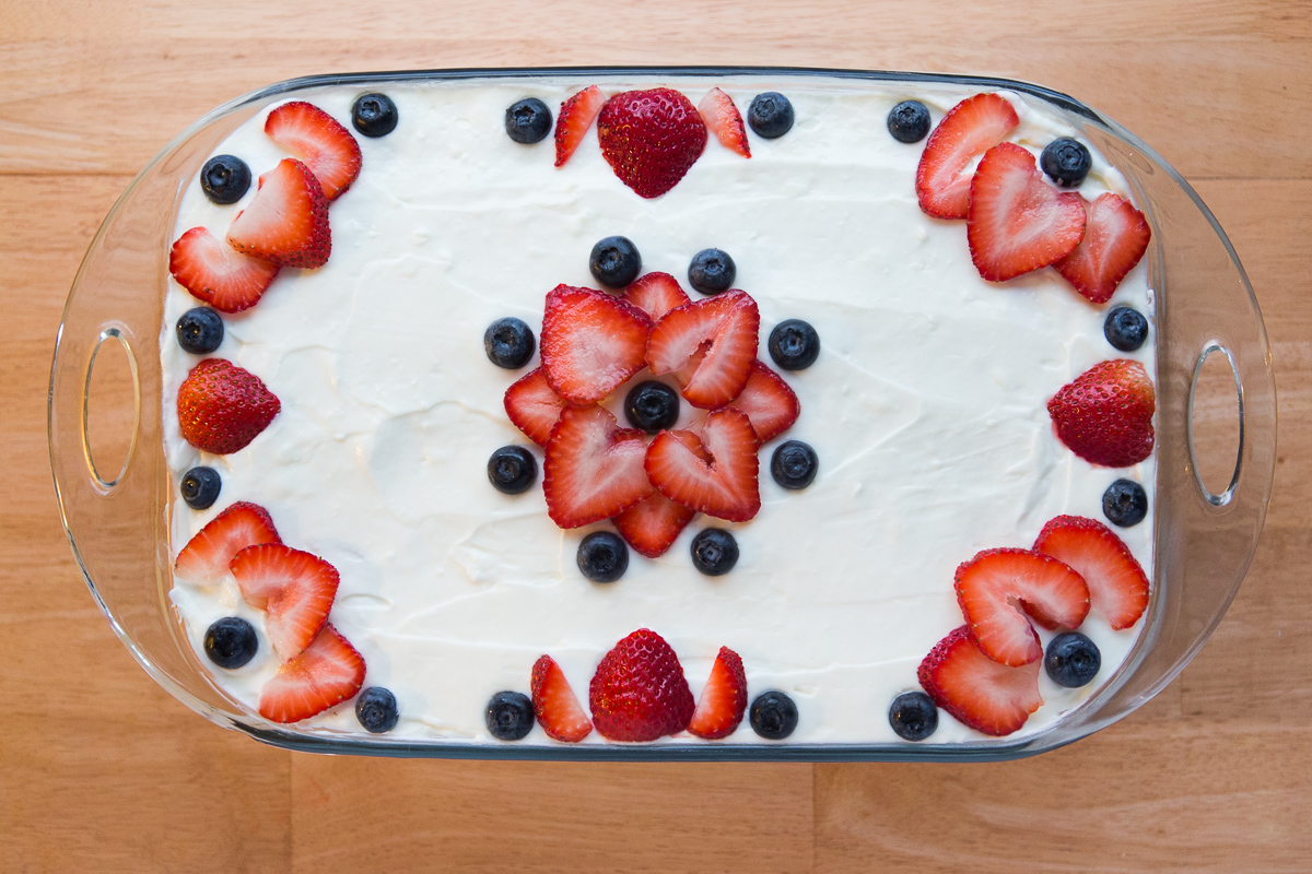 Berry Ice Box Cake