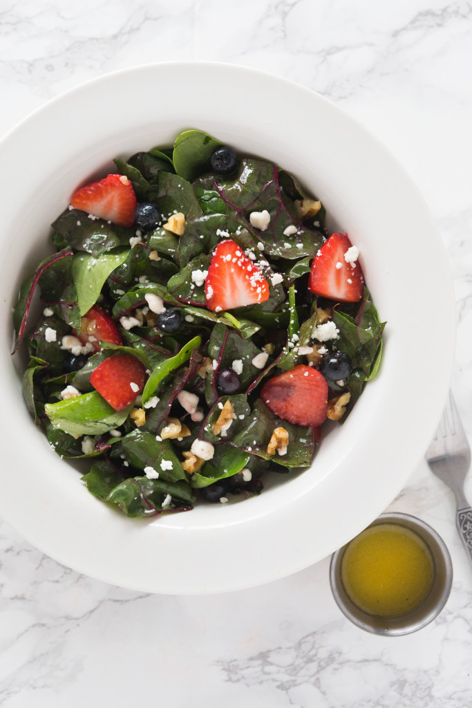 Chard Salad with Goat Cheese Dressing