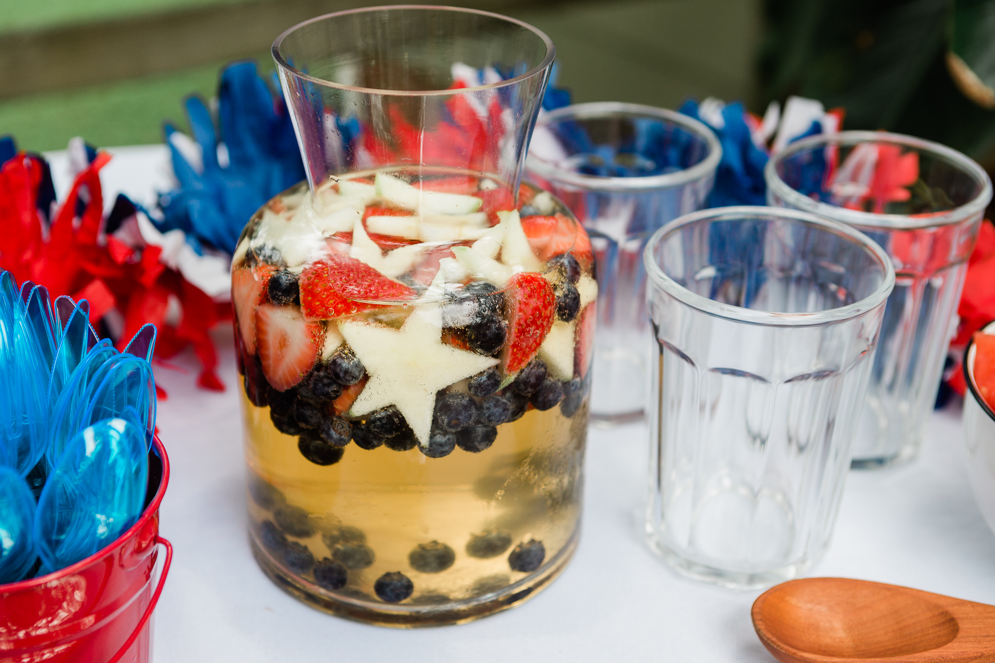 Sparkling Red, White & Blue Sangria