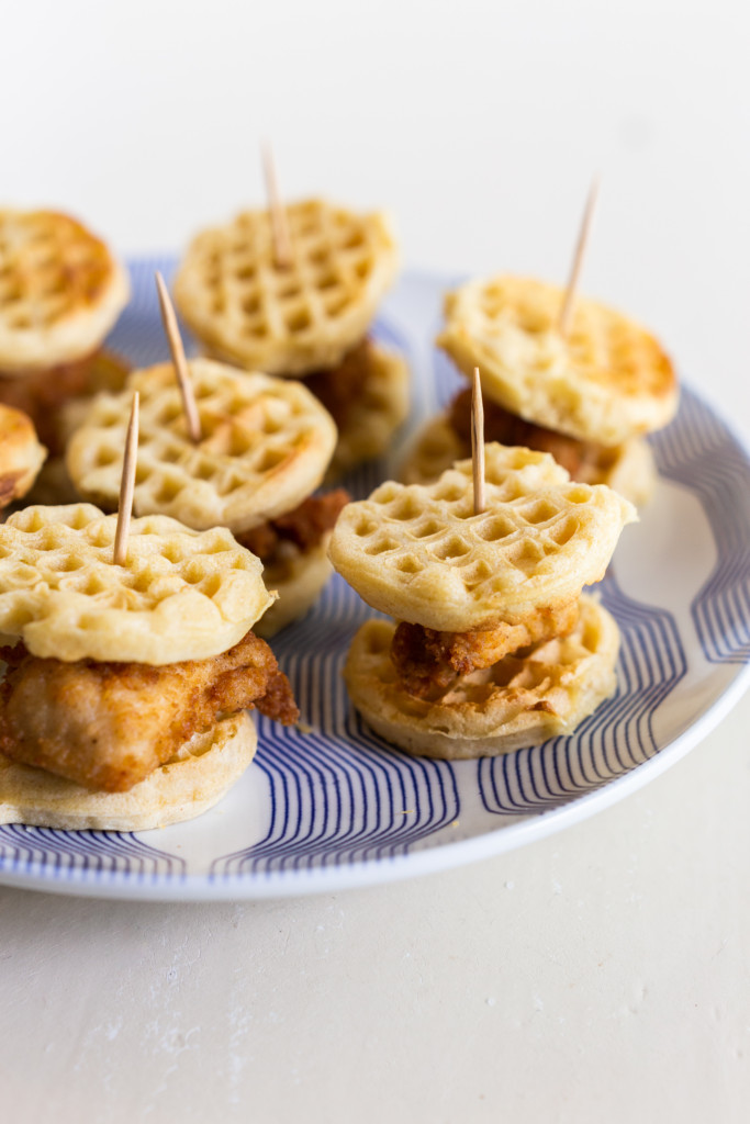 Mini Chicken and Waffles Sliders