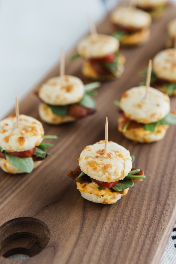 Mini Pimiento Cheese BLT Biscuits